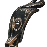 43. guro antelope mask (zamble), ivory coast