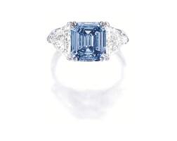 363A. important fancy vivid blue diamond ring