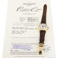 214. 百達翡麗(patek philippe) | 5059型號黃金萬年曆腕錶備月相及閏年顯示,2002年製。