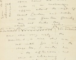 310. wilde, oscar. autographed letter signed, to fanny bernard-beere, regarding the american west and mormons