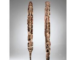 57. très rare sculpture cérémonielle, groupe iatmul, moyen sepik, papouasie nouvelle-guinée