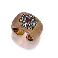 1681. 紅寶石配鑽石及小珍珠手鐲