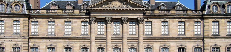 Exterior view of the Musée des Arts décoratifs de Strasbourg et Appartements de Palais Rohan.