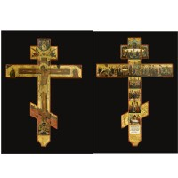 412. a crucifix, mstera, vladimir region, second half of the 19th century, in 17th century style