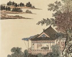 587. 溥儒 1896-1963   極目溪山
