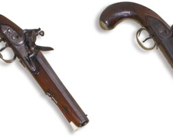 5. carved ivoryand walnut and engraved steel pistol, by wheeler, england, circa 1790