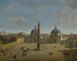 26. gaspar van wittel, called vanvitelli   rome, a view of piazza del popolo