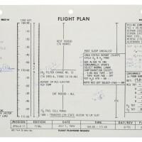 106. flown apollo 11 flight plan sheet