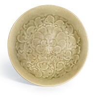 302. a yaozhou celadon 'peony' bowl northern song dynasty |