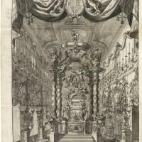 12. d'aquino, sacra exequialia in funere jacobi ii, roma, 1702, pelle