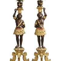 12. a pair of italian painted and giltwood nubian figures, venice, circa 1860 |