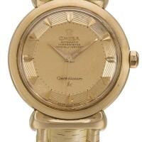 6. omega | a pink gold automatic centre seconds wristwatch with braceletref 2930 case 360597 constellation grand luxe circa 1959