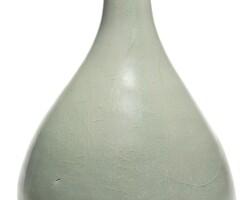 92. an extremely rare korean celadon bottle vase koryo dynasty, 12th century