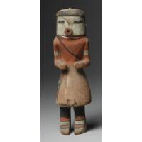 8. a hopi polychrome wood kachina doll, depicting kahaila