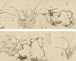 2209. attributed to lan ying | ink orchids