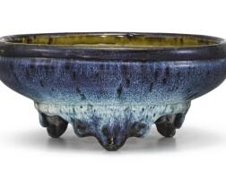314. a shiwan jun-type narcissus bowl ming dynasty