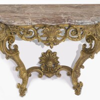 20. an italian rococo carved giltwood console table probably piedmont, circa 1740