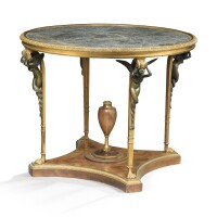 3. a patinated and gilt-bronze mounted mahogany guéridon indirectoire style,circa 1880, attributed to millet