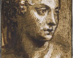 305. venetian school, 16th century | study of a woman, her hand on her chest