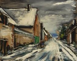 497. maurice de vlaminck | rue en hiver