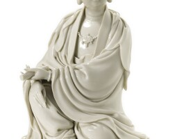 107. a fine dehua figure of guanyin qing dynasty, 18th century