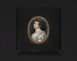 33. 象牙細密畫,保羅·費迪南多·路易吉·奎利亞繪製,約1810年 | 象牙細密畫,保羅·費迪南多·路易吉·奎利亞繪製,約1810年