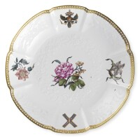 6. an octofoil deep plate from the st. andrew service, meissen, 1744-1745