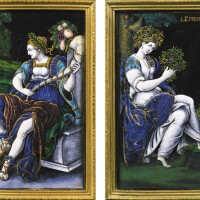 11. jacques i laudin (circa 1627-1695), limoges, late 17th centuryallegories of spring and autumn, |