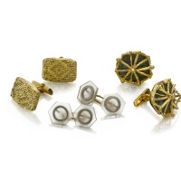 4. three pairs of gold cufflinks