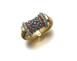 4. gem set and diamond bracelet-watch