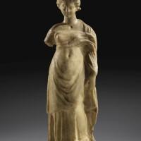 18. a greek marble figure of a goddess, circa mid4th century b.c. | a greek marble figure of a goddess