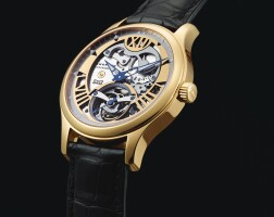 2012. chopard | limited edition pink gold skeletonized tourbillon wristwatch with 8-day power reserve indication ref 161901 mvt 111910 case 1525274 no 39/100 l.u.c steel wings circa 2004