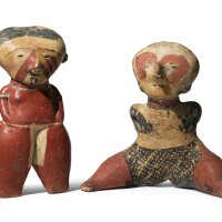 27. two chinesco figures, type c, protoclassic, ca. 100 b.c. -a.d. 250