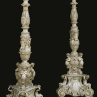 213. a pair of renaissance style carved marble torchères italy, 19th century