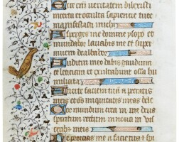 37. two leaves with illuminated borders from a book of hours, in latin [france (paris), c.1425-50]