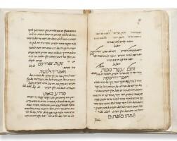 103. kiddush leil shimmurim (karaite haggadah) [egypt: ca. 14th century], sold with: hallel le-shabbat ha-gadol (karaite liturgy for shabbat before passover) [egypt; ca. 17th century]