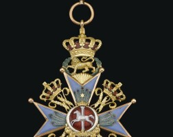 41. brunswick, order of henry the lion, grand cross set of insignia |