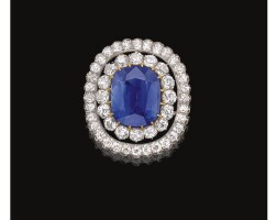 398. sapphire and diamond brooch, late 19th century
