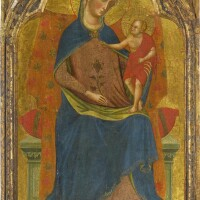 2. paolo veneziano and close studio assistant, possibly one of his sons, giovannino, luca or pablo | the madonna and child enthroned