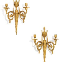 46. a pair of gilt-bronze wall lights in neoclassical style, circa 1810  