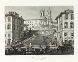 5. amici, raccolte di vedute, roma, 1835-1847, mezza pergamena