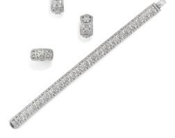 259. diamond demi-parure