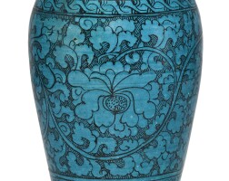 312. a painted turquoise-glazed meiping 13th – 14th century