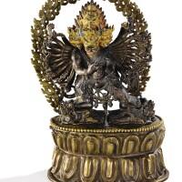 13. 十七世紀 西藏 銅大威德金剛像