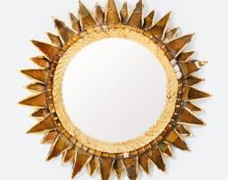 36. line vautrin | soleil à pointes n. 2 convex mirror