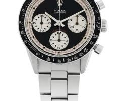 40. 勞力士(rolex) | 6264型號「paul newman daytona」精鋼計時鍊帶腕錶,年份約1970。
