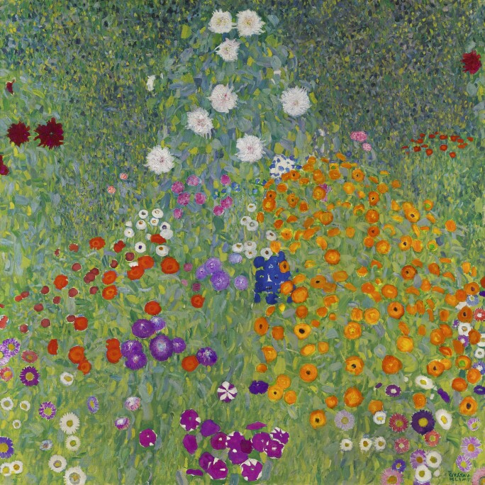 A garden with flowers,