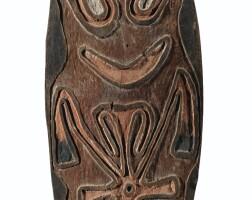 42. planche votive,peuple wapo, wapo creek, golfe de papouasie, papouasie nouvelle-guinée