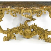 22. a pair of important italian rococo carved giltwood console tables sicily or naples, second quarter 18th century