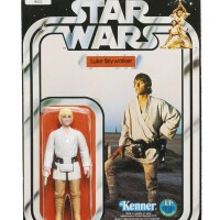 23. star wars luke skywalker action figure with double-telescoping saber, 1978